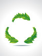 Recyle Icon With Leaf