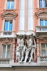 historic buildings of Genoa, Italy
