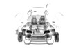 Auto Trasparente, Componenti, progetto 3d, tuning, motori