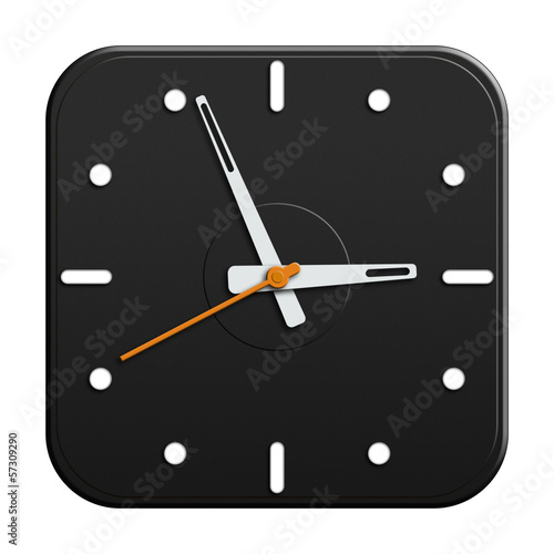 Black clock illustration