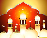 Golden Eid Background