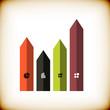 Modern arrow business abstract design template