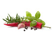 Chili pepper and flavoring herbs