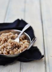 barley groats in a plate