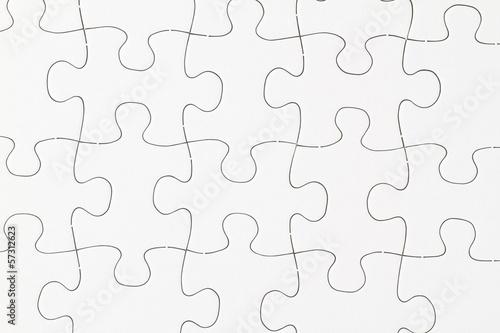 Leeres Puzzle im Detail