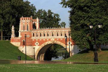 Figured bridge in Tsaritsyno