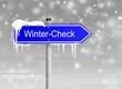 Schild Wintercheck