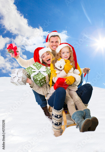 winter time family