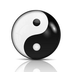 Ying yang symbol of harmony and balance.vector