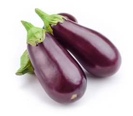 Aubergine (eggplant) isolated on white