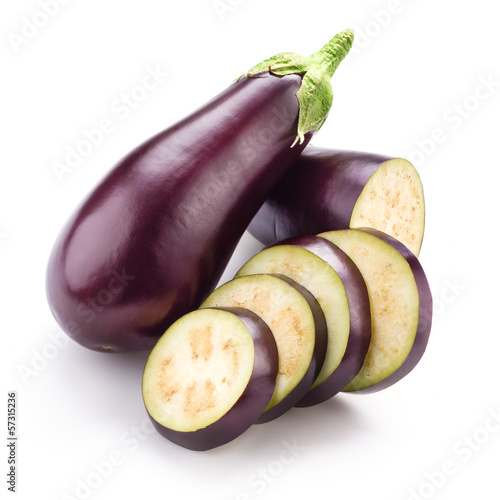 Eggplant (aubergine) isolated on white