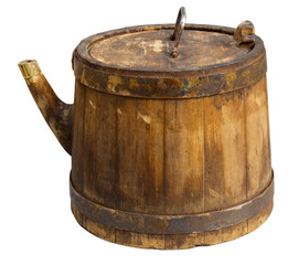 Old barrel isolated. Clipping path included.