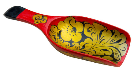 Old russian traditional wooden spoon