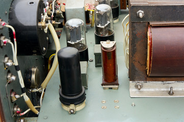Vacuum tubes in old device