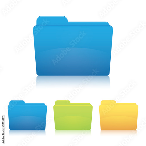 File folder. Vector illustration of a document folder.