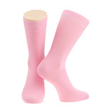 Pink socks over white