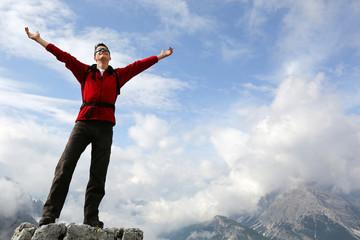Freiheit genießen in den Bergen