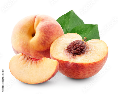 Peach with slices