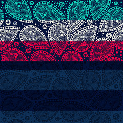 striped seamless paisley background