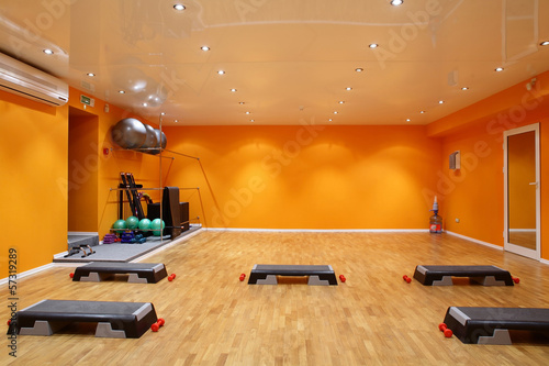 big and empty fitness club