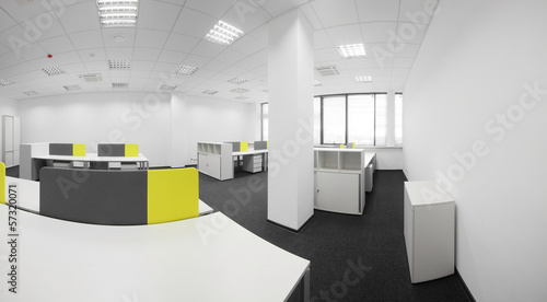 white brand new interior of office