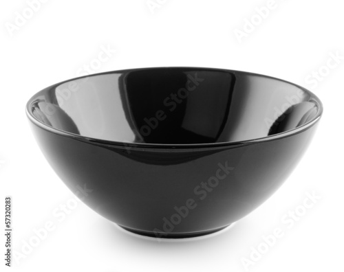 black bowl on white background