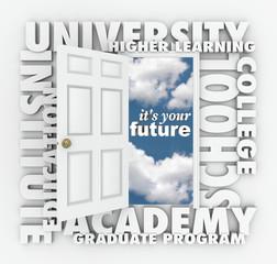 University College Words Open Door to Your Future
