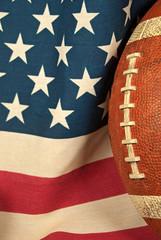 football on American flag