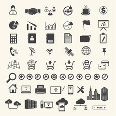 Business Finance and Computer technology icons