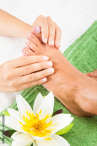 Woman Feet Undergoing Massage