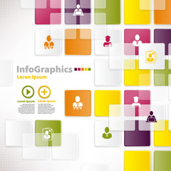 Modern infographic template for business design with background