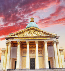 Paris the Mausoleum Pantheon. France.
