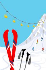 Ski slope, Vertical