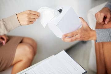 Passing tissues