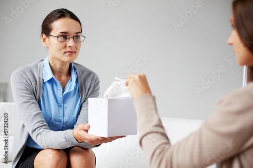 Take tissue