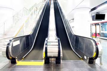 escalator in subway station