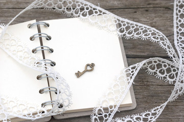 romantic retro notebook