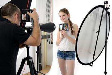 Shooting im Fotostudio