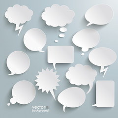 White Communication Bubbles