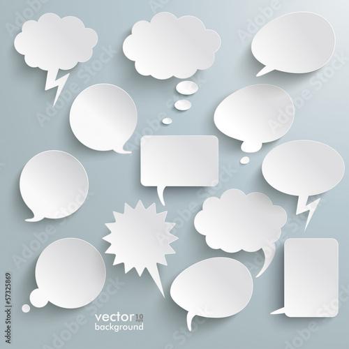 Fototapeta White Communication Bubbles