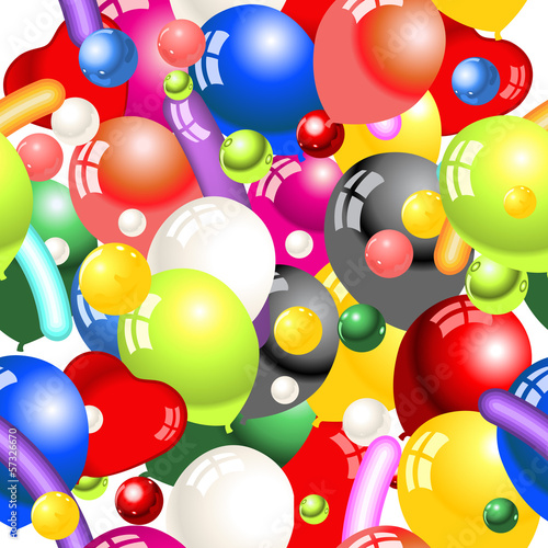 decoration balloons seamless pattern