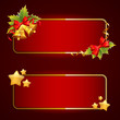 Christmas bright blank festive banners set