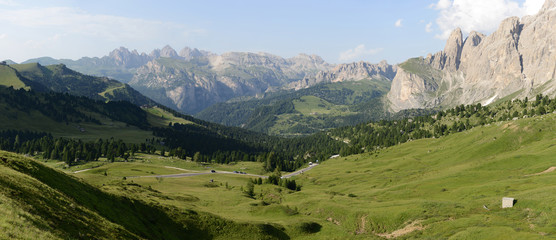 Panorama of Passo Giau - Dolomites - Italy