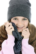 canvas print picture - Teenager in Kleidung für den Winter