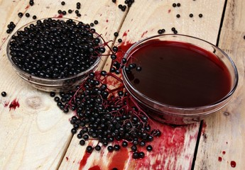 Elderberry fruits