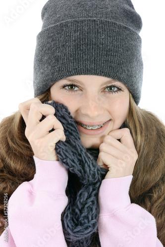 canvas print picture Teenager in Kleidung für den Winter