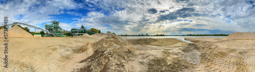A gravel sand plant panorama in Germany