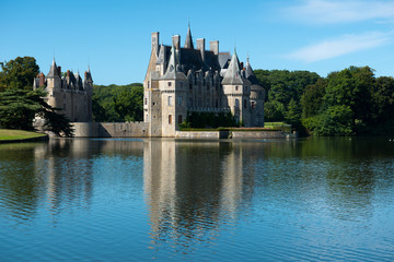View of the castle at La Bretesche ,France