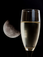 white wine and moon