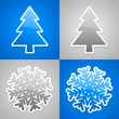blue and gray christmas cards